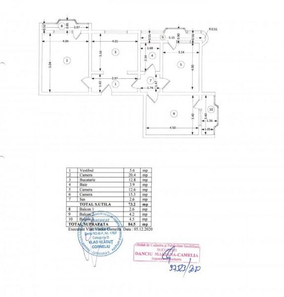 Mall Vitan - 3 camere decomandat bloc reabilitat + loc de parcare
